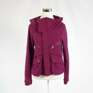 Fossil dark pink 100% cotton jacket M